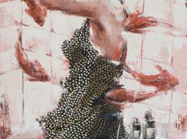 Carpe diem <p> huile au couteau sur toile de lin de 100 x 60
