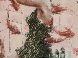 Carpe diem <p> huile sur toile de lin au couteau de 100 x 60