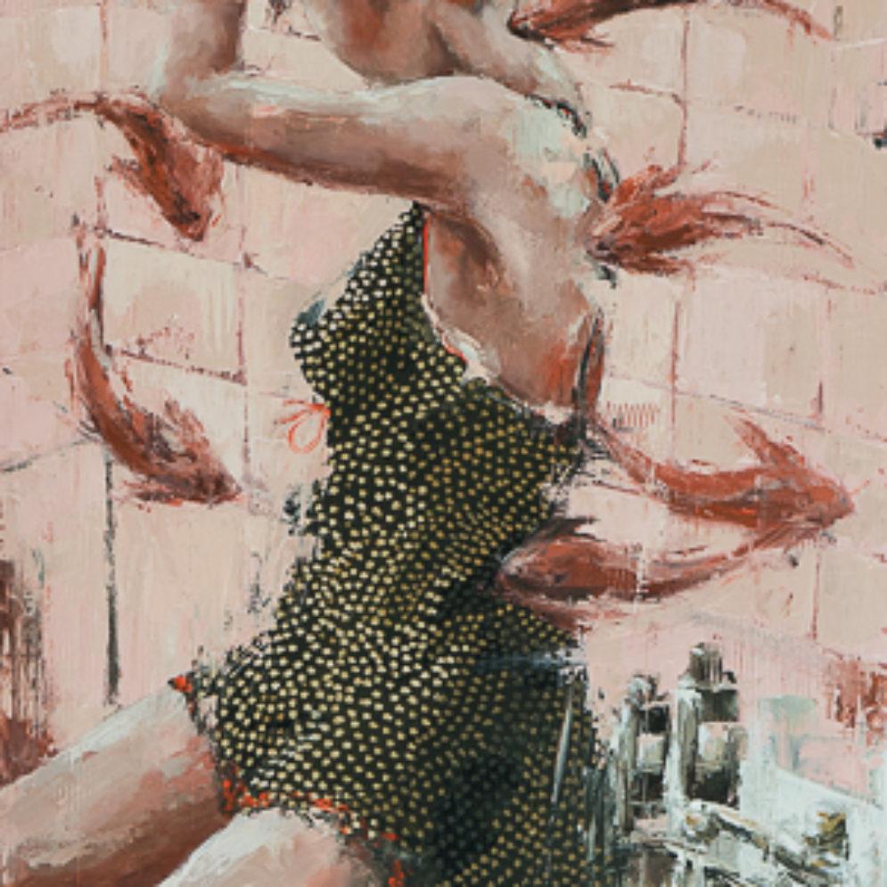 Carpe diem <p> huile au couteau sur toile de 1100 x 60