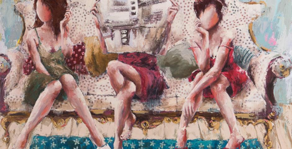 The Lily ² <p> huile sur toile au couteau de 120 x 150