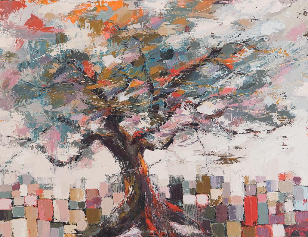 Œuvre originale Patricia Perrier artiste peintre, exposition galerie Lyon, Pont aven, Grignan, Mexico city..