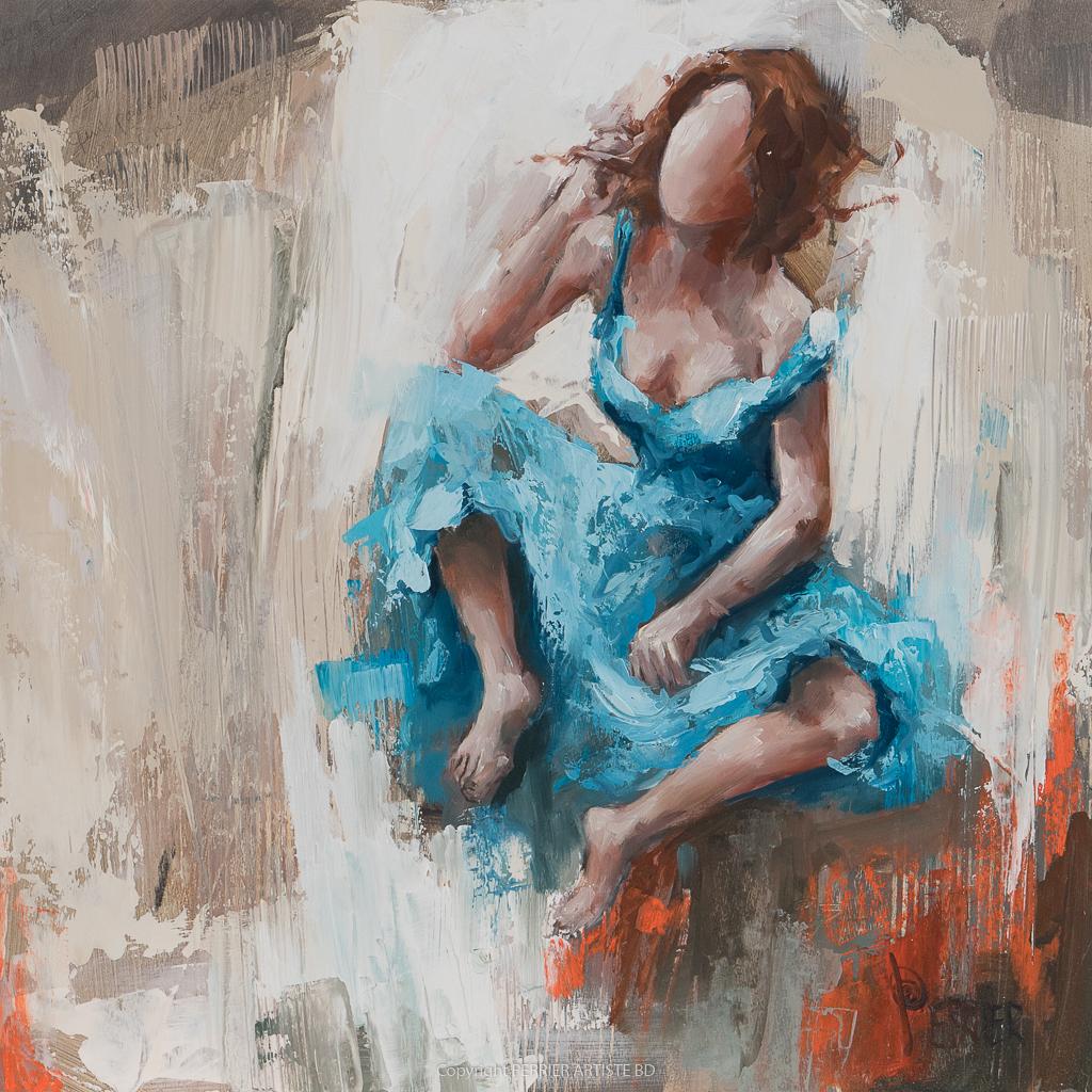 Dessin marouflé sur bois,Œuvre originale Patricia Perrier artiste peintre, exposition galerie Lyon, Pont aven, Grignan, Mexico city..